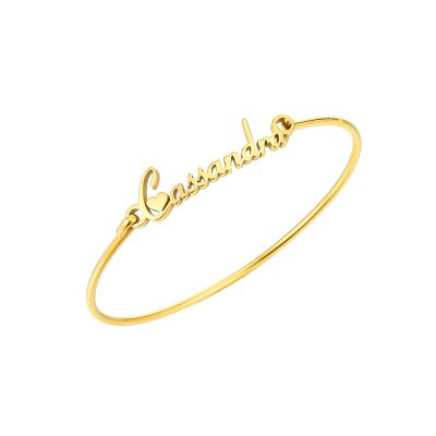 Personalized Bangle Bracelets Stainless Stell Name Bracelets Gifts for Her