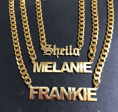 Punk Chunky Chain Customized Name Necklace Gifts for Woman&Man