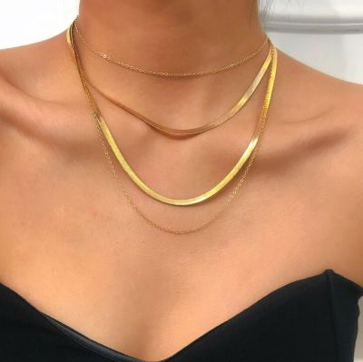 Punk Chunky Chain Necklace Layered Woman Necklace