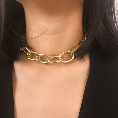 Punk Chunky Choker Woman Chain Necklace