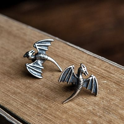 Punk Dragon Stud Earrings