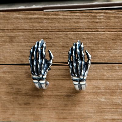 Punk Hand Bones  Unique Ear Studs