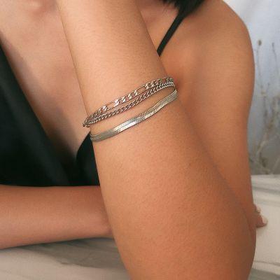 Punk Snake Link Chain Bracelet Street Layer Bracelets