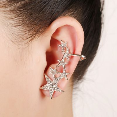Punk Stars Ear Cuff Piercing Stud Earrings 1 Piece