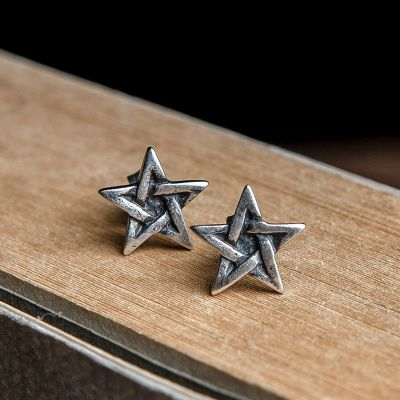 Punk Style Star Stud Earrings