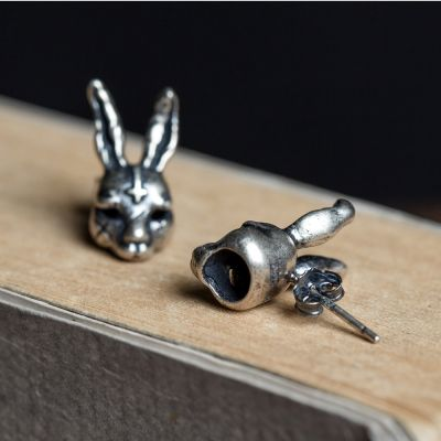 Rabbit Vintage Sterling Silver Studs Earring