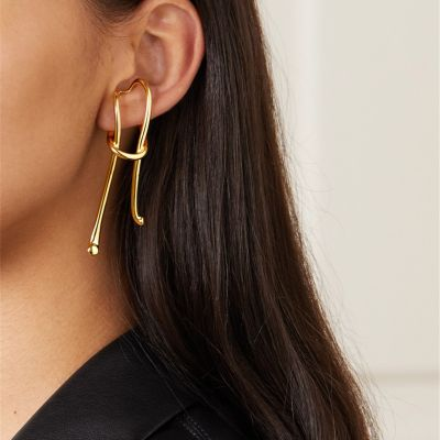 Retro Clip on Earring Simple Geometric Earring for Work