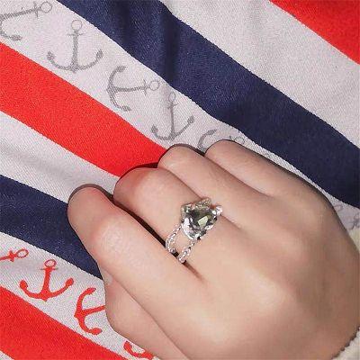 Rhinestone Pearls Stackable Ring Bridal Adjustable Rings