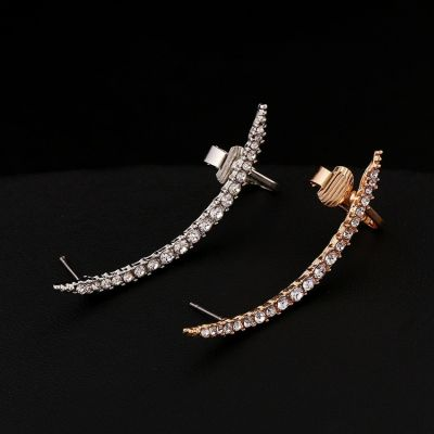 Rhinestones Big Ear Clip Earrings for Woman&Man