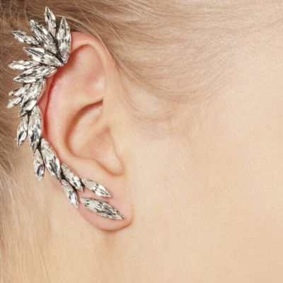 Rhinestones Ear Cuff Woman Statement Earrings 1 PC