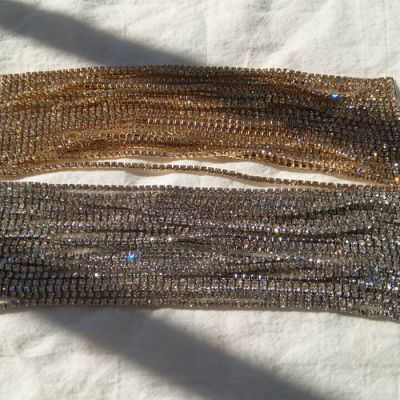 Rhinestones Layer Bracelet Chain Wedding Bangle Bracelets