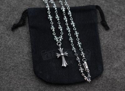 Rock Cross Sterling Silver Vintage Chunky Necklace