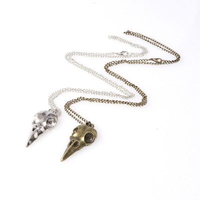 Rock Crow Skull Men Chain Necklace Mens Jewelery