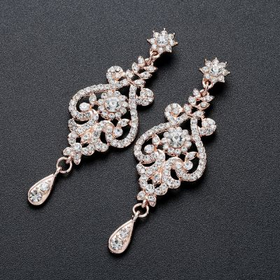 Rose Gold Fashion Jewelry Set Evening Party Ladies Jewelry Set Gift Set
