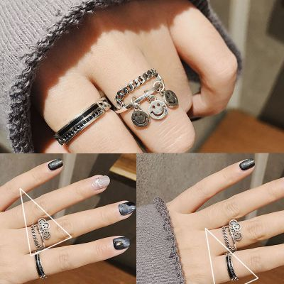 S925 Silver Adjustable Layering Rings 2-Pack Ring Stacking