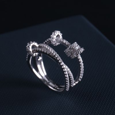 S925 Silver Rhinestones Layering Rings Ring Stacking Wedding Rings