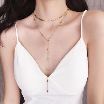 Sexy Layering Chain Choker Necklace Drop Back Necklace