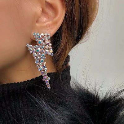 Sexy Rhinestones Flash Geometric Earrings Statement Earring