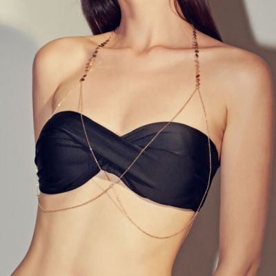 Sexy Sequin Bra Chain Body Jewelry for Party