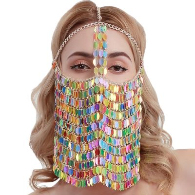 Sexy Sequins Dace Full Mask Fringes for Party