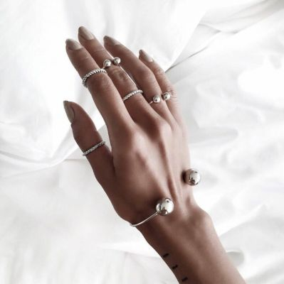 Simple Open Midi Rings Bracelet&Ring Set 6 Pack