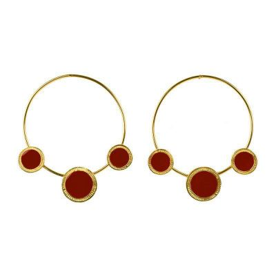 Big Hoop Earring Trendy Round Earrings