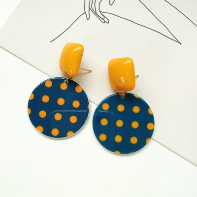 Cute Spot Drop Earrings Ear clip Earrings for School