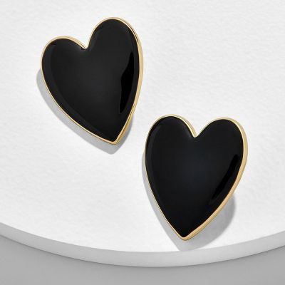 Love Heart Stud Earrings Bridal Statement Earring