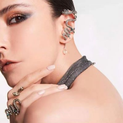 Snake Animal Ear Cuff Gothic Mismatched Earring