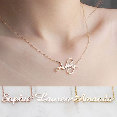 Stainless Stell Personalized Name Necklace Birthday Gifts DIY Necklace