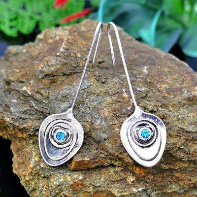 Sterling Silver Bohemian Flower Drop Earrings