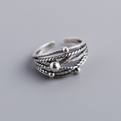 Sterling Silver Multilayer Stackable Ring for Men&Women