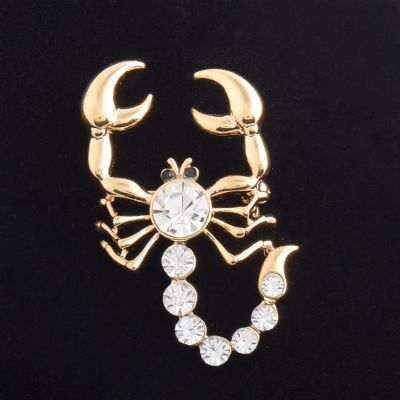 Stylish Scorpion Rhinestones Collar Brooches Pin