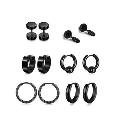 Stylish Stainless Stell Cross Dangle Earring 8-Pack Earring Set