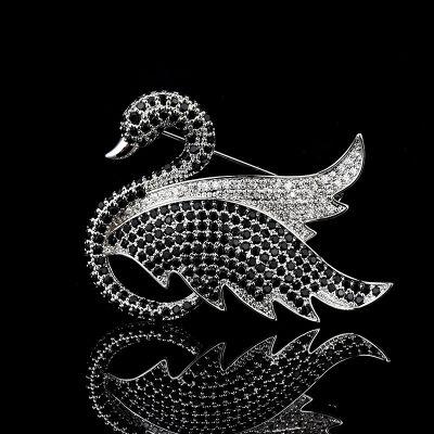 Swan Zircon Brooch Pins Rhinestone Jewelry