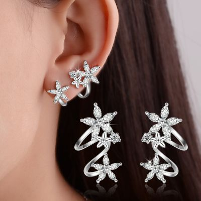 Sweet Rhinestones Flower Stud Earring Wedding Stud Earrings