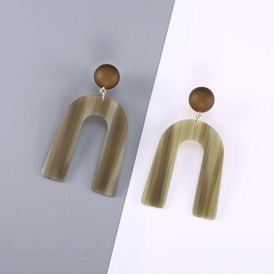 U Shaped Arch Acrylic Dangle Earrings Chic Earring