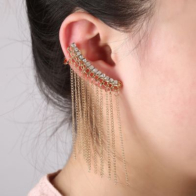 Vintage Fringes Drop Ear Cuff Statement Earrings for Woman