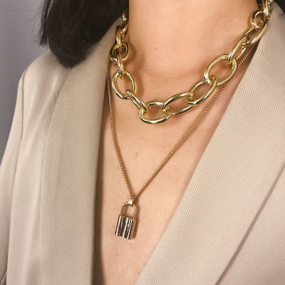 Vintage Lock Jewelry Set Earring Necklace Bracelets Sets