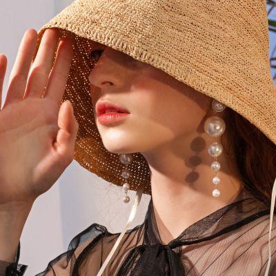 Vintage Pearls Drop Longer Earrings Bridal Dangle Earring