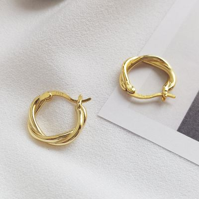 Vintage S925 Silver Mini Hoop Earrings Gifts for Girlfriend